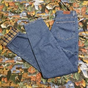 LL Bean Flannel Lined Natural Fit Jeans 30 x 32